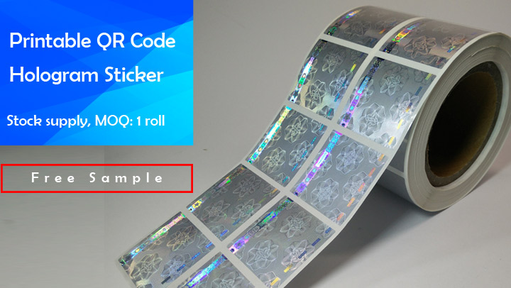 photograph regarding Printable Hologram named Holographic Barcode QR Code Labels Hologram Sticker